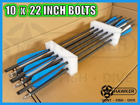 "10 pack of 22"" CARBON CROSSBOW BOLTS - BULK BUY!!!"
