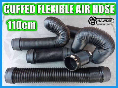 FLEXIBLE AIR HOSE CUFFED = 110CM + S/S HOSE CLAMPS!