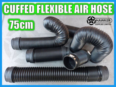 FLEXIBLE AIR HOSE CUFFED = 75CM + S/S HOSE CLAMPS!