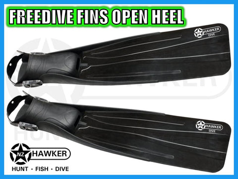 FREEDIVE FINS - OPEN HEEL - SIZE: 10-13   NEW! #01