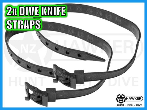 DIVE KNIFE LEG STRAPS x 2 - QUALITY DESIGN! - CHOOSE QUANTITY - STYLE 02
