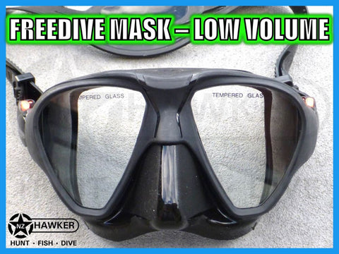 DIVE MASK BLACK SILICONE LOW VOLUME! BRAND NEW #04