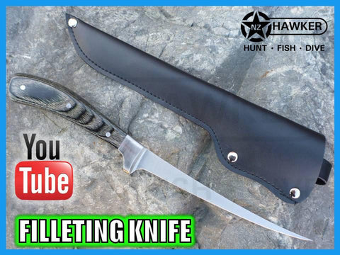 FILLETING KNIFE FLEXIBLE STAINLESS & WOOD 01