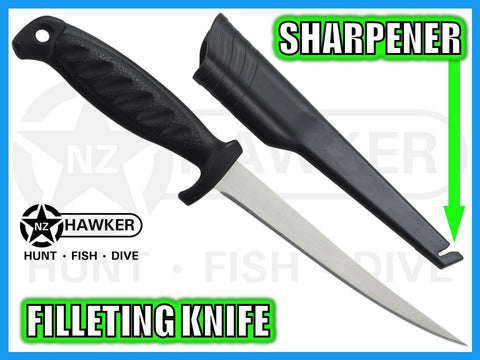 FILLETING KNIFE FLEXIBLE STAINLESS & SHARPENER 02