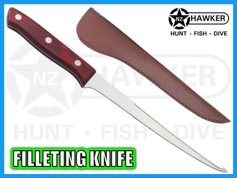 FILLETING KNIFE FLEXIBLE STAINLESS & WOOD 03