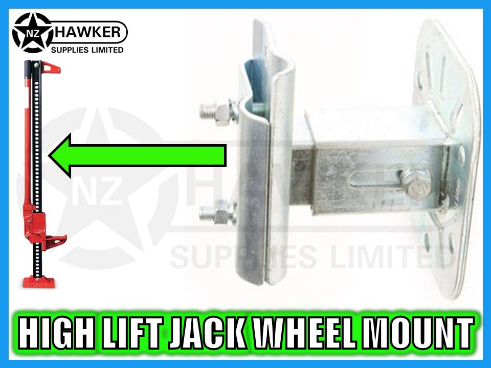 4x4 SPARE WHEEL MOUNT FOR HIGH LIFT JACKS - NEW #01