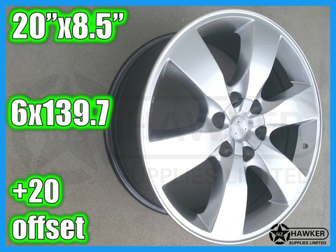 20x8.5 ALLOY WHEELS 6x139.7 - Set of 4 - NEW! #04
