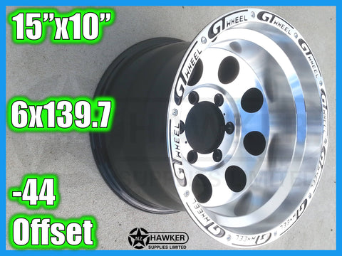 15x10 Neg44 ALLOYS 6x139.7 GTWHEEL - Set of 4 #05