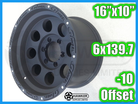 16x10 Neg10 ALLOYS 6x139.7 GTWHEEL - Set of 4 #06