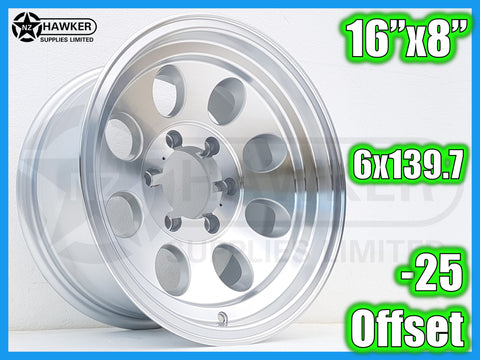 16x8 Neg25 ALLOY WHEELS 6x139.7 - Set of 4    #10