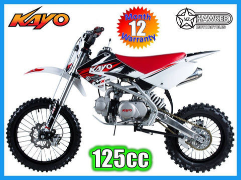Brand New - Kayo 125cc Big Wheel Dirt Bike MX125B