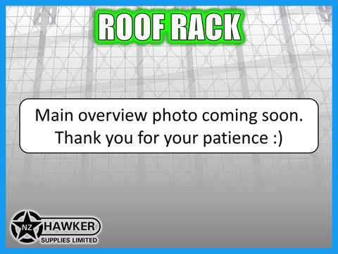 ROOF RACK TRADIE TRAY 180cm x 135cm ALLOY incl 15cm UNIVERSAL GUTTER MOUNTS! #45