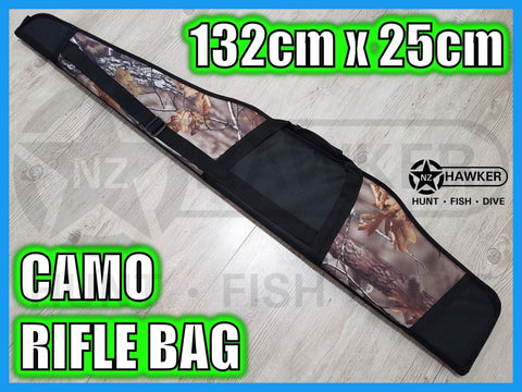 PREMIUM GUN BAG CAMO 132cm x 25cm with 20mm thick foam per side! #01
