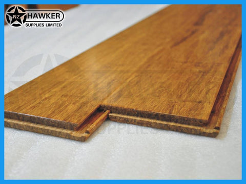 Carbonized Strand Woven Bamboo Flooring per SQM