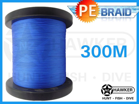 300M TP FISHING BRAID CHOOSE COLOUR/POUNDAGE