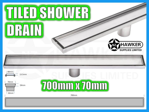 TILE INSERT SHOWER CHANNEL DRAIN 700mm X 70mm! #02