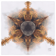 Autumn Fractals Mandala Mini Tapestry
