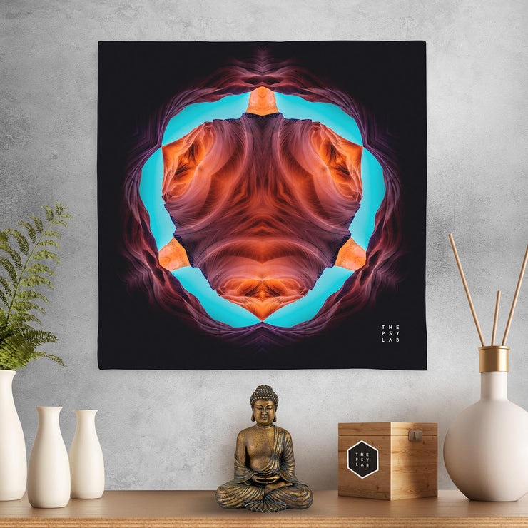 Antelope Canyon Mandala Mini Tapestry