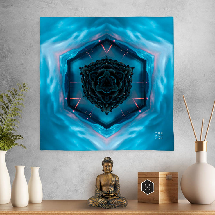 Blue Lagoon Mandala Mini Tapestry