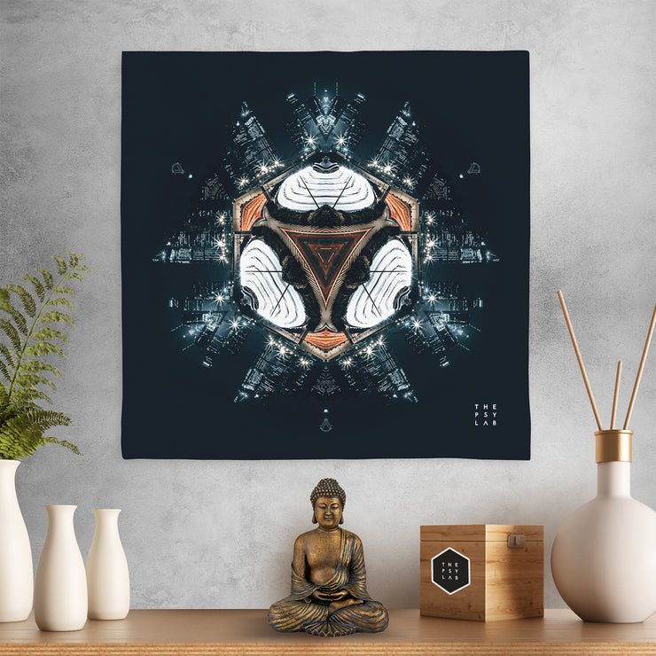 Dark Knight City Mandala Mini Tapestry