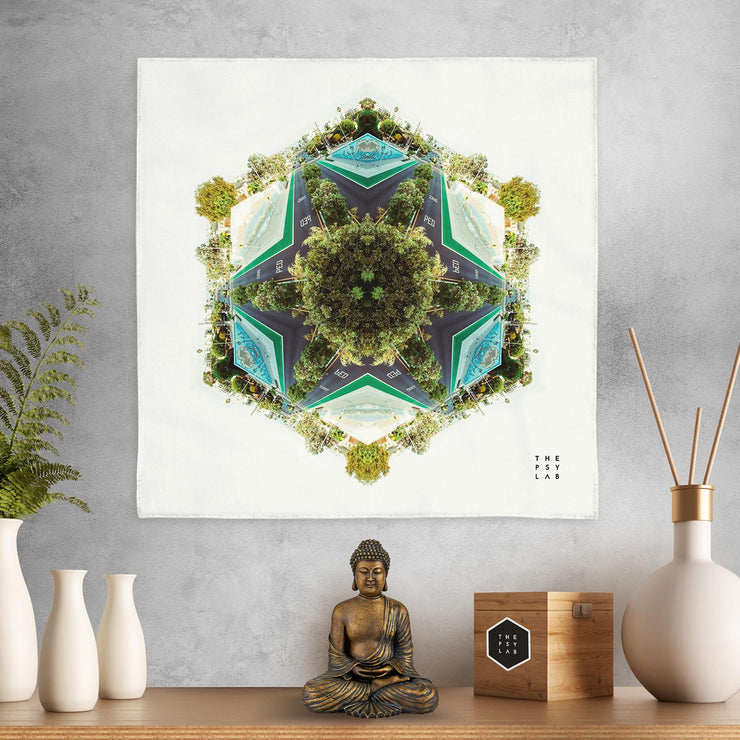 Lush Nature Mandala Mini Tapestry