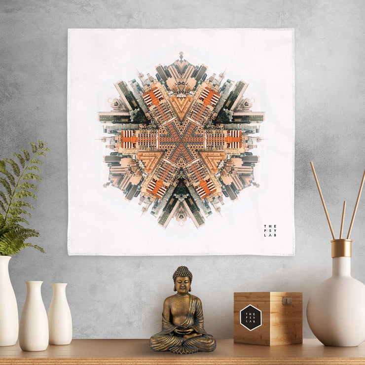 City Warrior Mandala Mini Tapestry