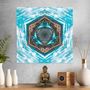 Blue River Flow Mandala Mini Tapestry