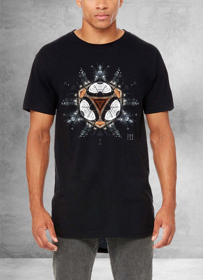 Dark Knight City Mandala Long T Shirt