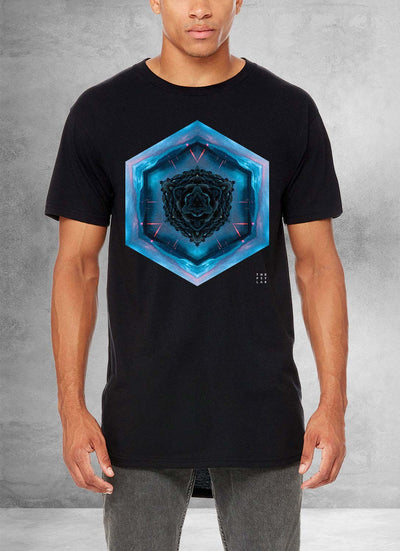 Blue Lagoon Mandala Long T-Shirt