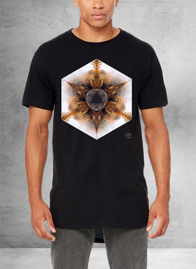 Autumn Fractals Mandala Long T-Shirt