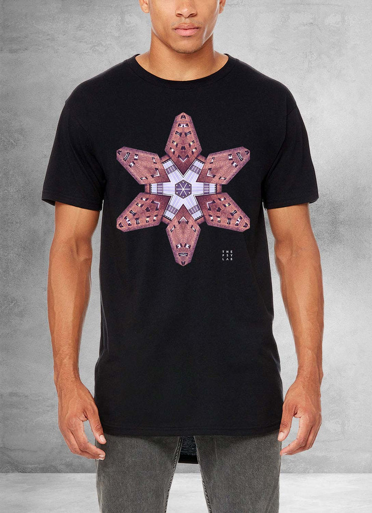 Urban Ninja Star Mandala Long T Shirt