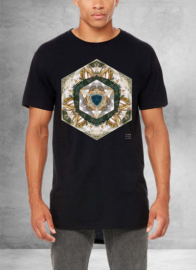 Solar Rock Mandala Long T-Shirt