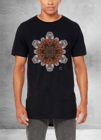 Rock Flake Mandala Long T Shirt
