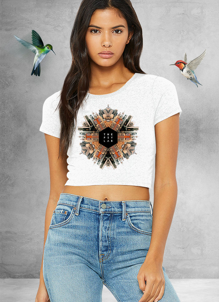 City Warrior Mandala Crop Top