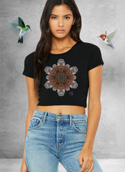 Rock Flake Mandala Crop Top
