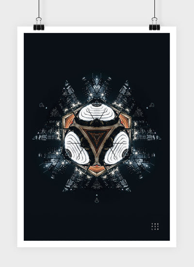 Dark Knight City Mandala Poster