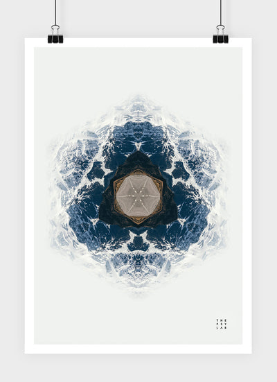 Fractal Mountains Mandala Poster