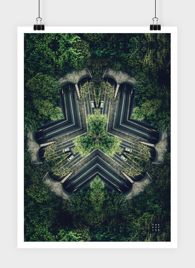 Spirited Forest Mandala Poster