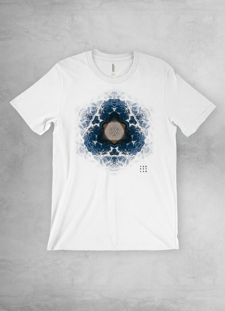 Fractal Mountains Mandala Unisex T-Shirt