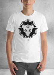Grey Powder Rock Planet Mandala Unisex T-Shirt
