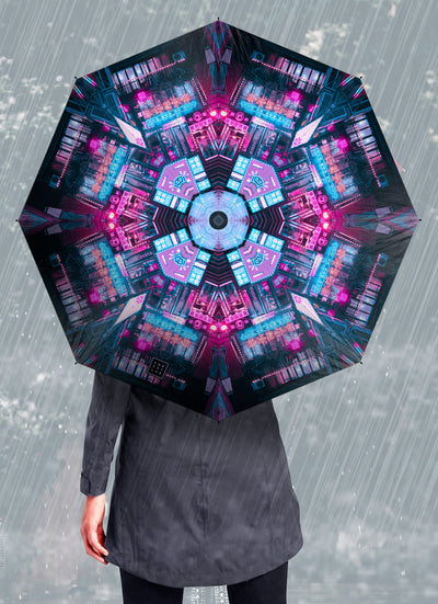 Light Maze Psychedelic Mandala Umbrella