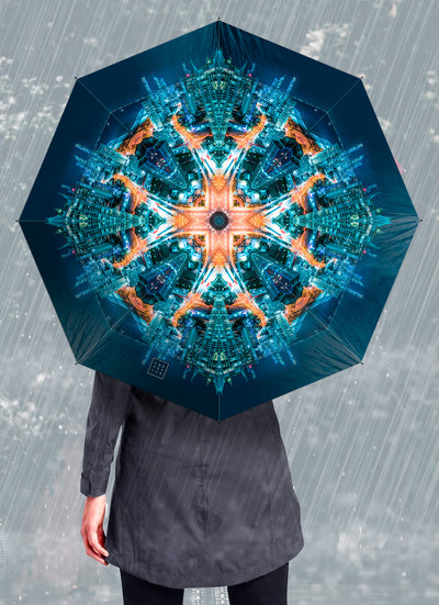 Gold Coast Warrior Psychedelic Mandala Umbrella