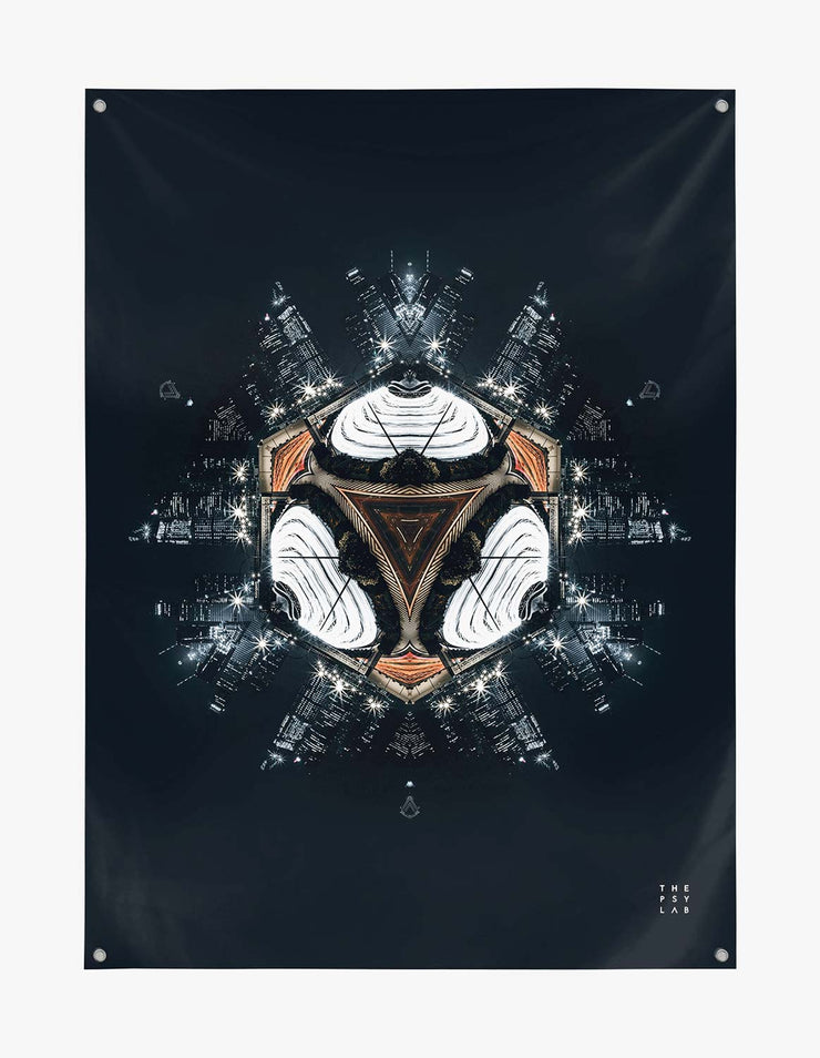 Dark Knight City Mandala Tapestry
