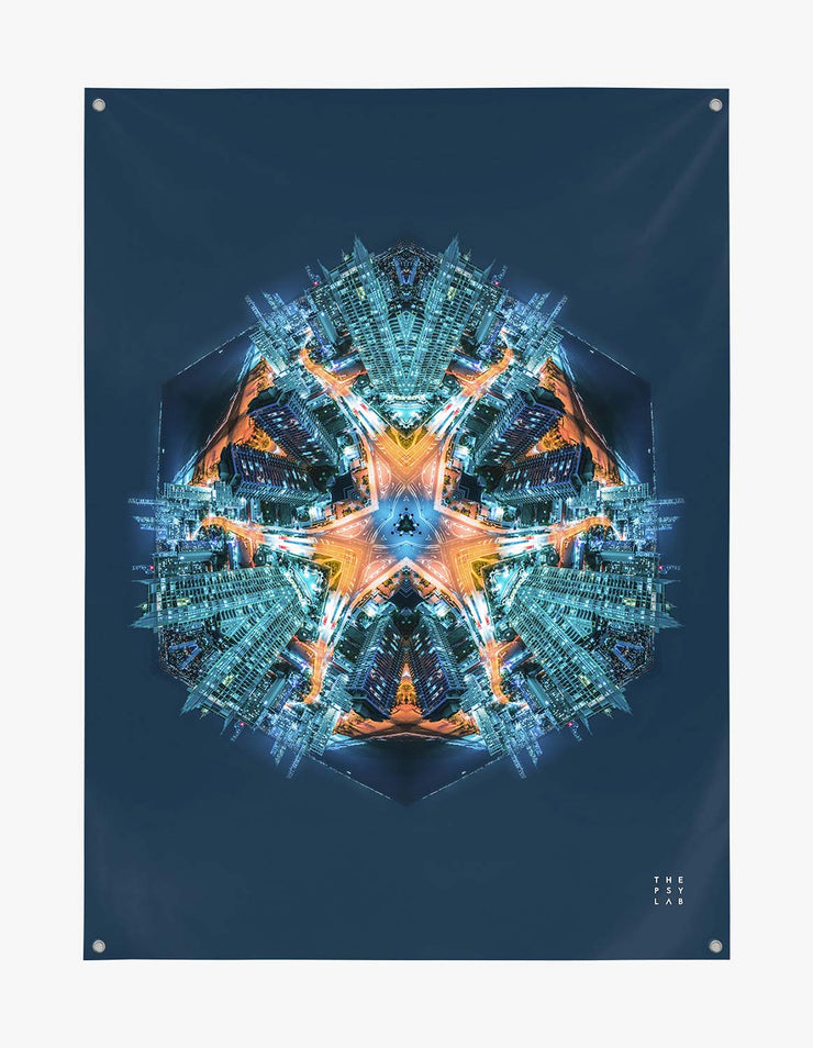 Gold Coast Warrior Mandala Tapestry