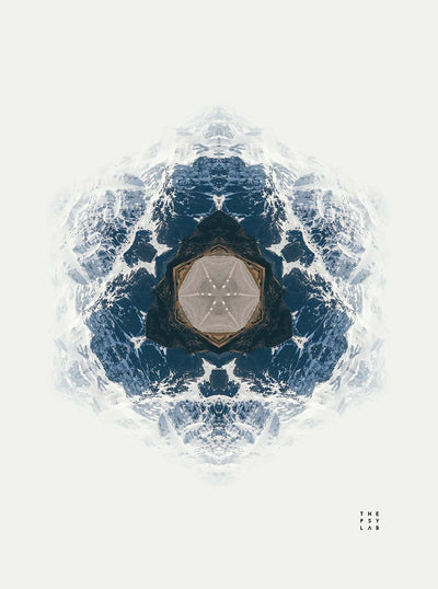 Fractal Mountains Mandala Tapestry