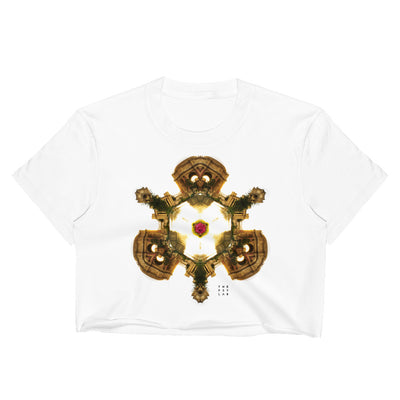 Shrine of Golden Fire Mandala Crop Top