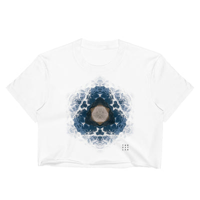 Fractal Mountains Mandala Crop Top