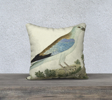 Load image into Gallery viewer, Blue and Black Bird Double Sided Pillowcase 18x18