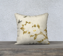Load image into Gallery viewer, Flowers and Butterflies Pillowcase 18x18