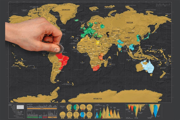 Deluxe Scratch Off Travel World Map